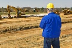 Construcción supervisora de la carretera imagen de archivo