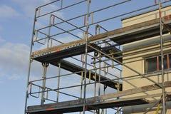 Construcción unifamiliar de la casa Foto de archivo libre de regalías