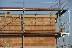 Construcción unifamiliar de la casa Fotografía de archivo