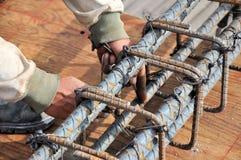 Construcción de la barra de acero Foto de archivo libre de regalías