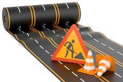Construcción de la carretera Foto de archivo