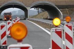 Construcción de la carretera   Imagen de archivo libre de regalías