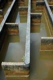 Construcción de la filtración del agua del drenaje Fotografía de archivo libre de regalías
