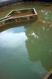 Construcción de la filtración del agua del drenaje Foto de archivo libre de regalías