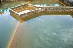 Construcción de la filtración del agua del drenaje Fotos de archivo libres de regalías
