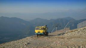 Construcción de la montaña Foto de archivo libre de regalías