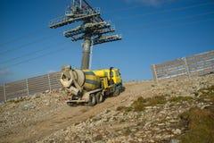 Construcción de la montaña Imagen de archivo