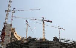 Construcción de un rascacielos (Milano, Italia) Fotos de archivo libres de regalías
