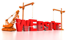 Construcción de un Web site Fotografía de archivo