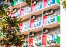 Construcción de viviendas con los balcones Fotografía de archivo libre de regalías