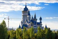 Construcción del castillo de Disney Imagenes de archivo