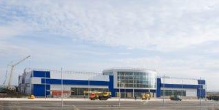 Construcción del centro comercial Imágenes de archivo libres de regalías