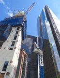 Construcción en la ciudad de Londres Imagen de archivo libre de regalías
