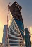 Construcción moderna de los rascacielos Fotografía de archivo