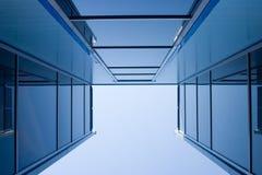Construcciones azules Imágenes de archivo libres de regalías