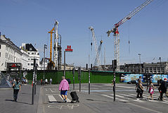 Construcciones de la estación de DENMARK_metro Fotografía de archivo libre de regalías