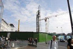 Construcciones de la estación de DENMARK_metro Foto de archivo libre de regalías