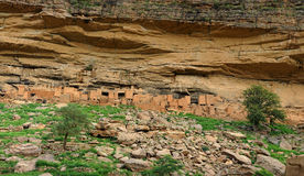 Construcciones de la tribu de Dogon Imagen de archivo