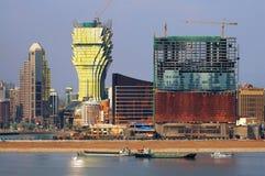 Construcciones de nuevos casinos en Macau Foto de archivo libre de regalías
