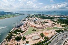 Construcciones de Singapur Fotos de archivo