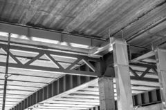 Construcciones de un edificio bajo la construcción o cuarto fotografía de archivo libre de regalías