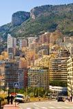 Construcciones de viviendas de Mónaco Imagen de archivo libre de regalías