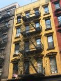 Construcciones de viviendas de New York City Fotografía de archivo libre de regalías