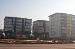 Construcciones de viviendas de Oltenitei Foto de archivo libre de regalías