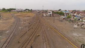 Construcciones de viviendas en ferrocarril metrajes