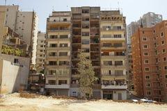 Construcciones de viviendas, Líbano Foto de archivo