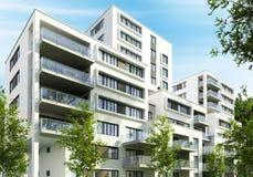 Construcciones de viviendas modernas en la ciudad fotos de archivo libres de regalías