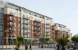 Construcciones de viviendas modernas portsmouth inglaterra Imágenes de archivo libres de regalías