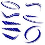Construcciones del icono o de la insignia azules Fotografía de archivo