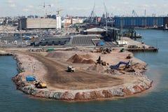 Construcciones en puerto marítimo foto de archivo libre de regalías