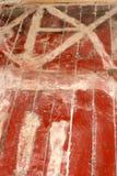 Construcciones Marca y preparaci?n para pegar el lin?leo de madera del piso fotos de archivo