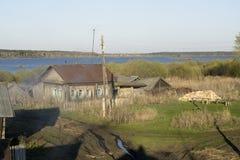 Construcciones rurales de decaimiento Imagenes de archivo
