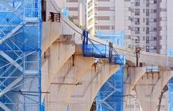 Construcion del monorrail de São Paulo Imagen de archivo