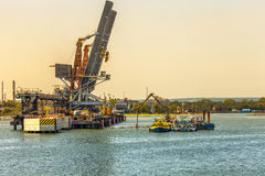 Construcion site in Port Royalty Free Stock Image
