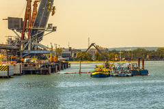 Construcion site in Port Stock Photography