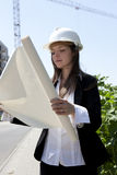 Construcion woman worker Stock Photos