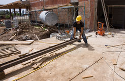 Construcion worker Stock Image