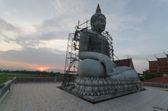 Construct buddha. Right view construct buddha and silhouette Royalty Free Stock Photo