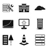 Construct the house icons set, simple style. Construct the house icons set. Simple set of 9 construct the house vector icons for web isolated on white background Stock Photos
