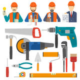 Construct Icons Flat Set Stock Images