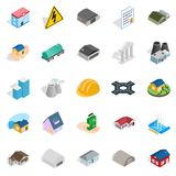 Construct icons set, isometric style. Construct icons set. Isometric set of 25 construct vector icons for web isolated on white background Royalty Free Stock Photo