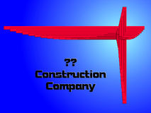 Construct logo. Logo for company who is dealing with metal or wood construction works. Created in Coreldraw10 Royalty Free Stock Images