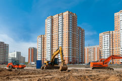 We construct a new residential area Royalty Free Stock Images