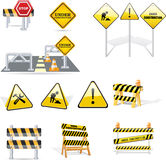 Construct signs Stock Photo