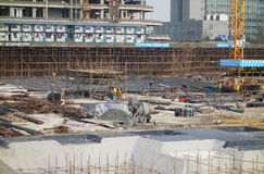 Construct site. Construct new houses in china Royalty Free Stock Photos