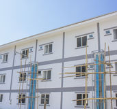 Construct site new houses. Construct site Royalty Free Stock Images